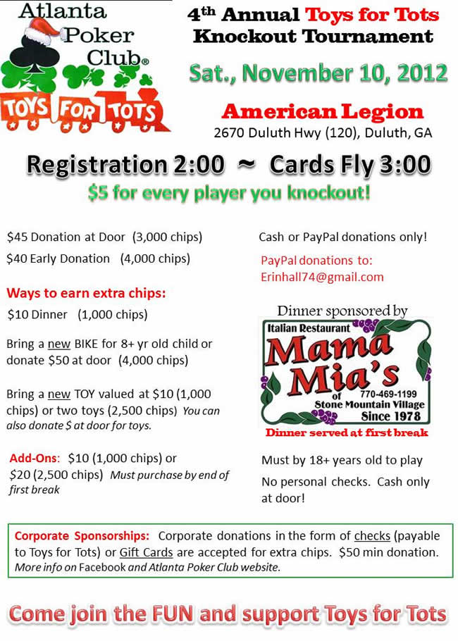Toys For Tots Flyers 2012 : Toys for tots knockout tournament saturday november